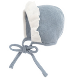 Blue Wool Knitted Bonnet | Foque