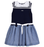 Gingham Sailor Dress | Foque