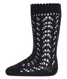 Black Long Lace Socks