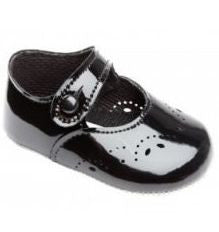 Black Button Bar Shoes - Classical Child  - 1