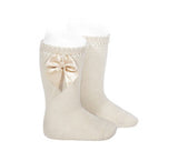 Knee High Socks with Bow Size 10 years - Classical Child  - 2