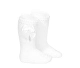 Knee High Socks with Bow Size 10 years - Classical Child  - 4