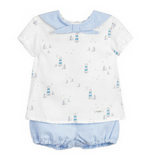 Boys Blue Top & Shorts Set - Classical Child  - 1