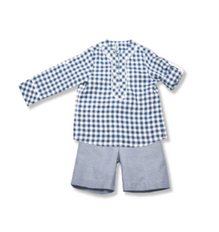 Blue Check Shirt - Classical Child  - 1