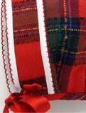Red Tartan Girls Bonnet