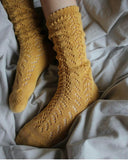 Mustard Long Lace Socks | Condor