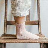 Short Lace Socks Old Rose | Condor