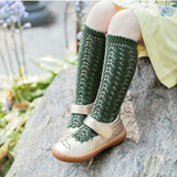 ** PRE ORDER** Forest Green Long Lace Socks | Condor