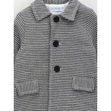 Linen Blend Striped Coat | Foque