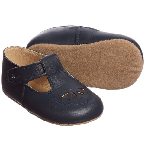 Navy Petal Design Baby Shoe - Classical Child  - 4