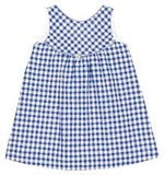 Checked Girls Dress with Bow
