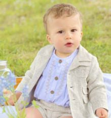 Boys Linen Blazer - Classical Child  - 1