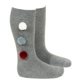 Socks with 3 Pom Poms - Classical Child  - 4