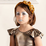 Ruffled Pearl Velvet Headband | Classical Child