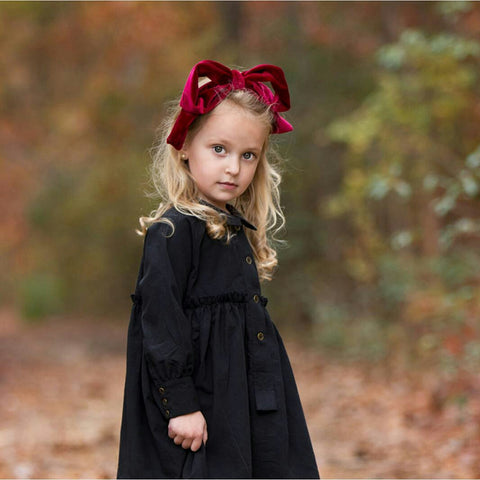 Velvet Party Bow Wrap | Classical Child