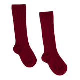 Cranberry Ribbed Socks