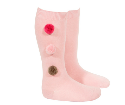 Socks with 3 Pom Poms - Classical Child  - 5