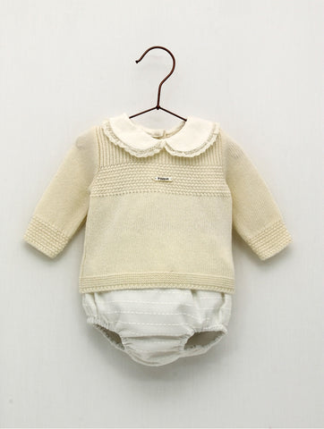 Ivory Viyella Shorts Set