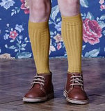 Ribbed Socks Mustard - Classical Child  - 1
