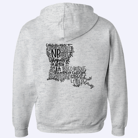 Shaping the Health of Louisiana Zip-Up Hoodie - Black Design