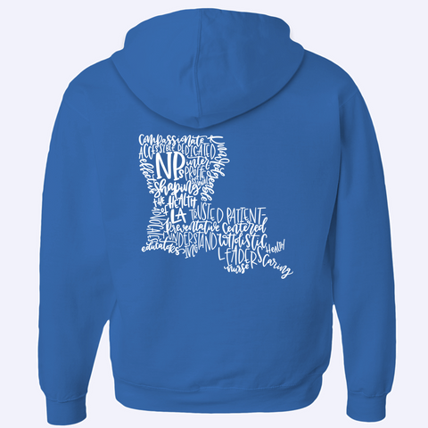 Shaping the Health of Louisiana Zip-Up Hoodie - White Design