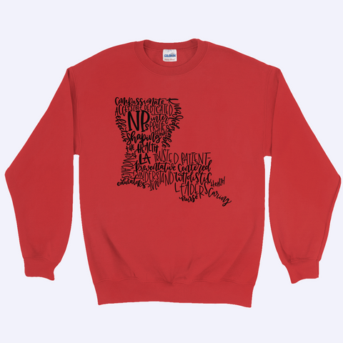 Shaping the Health of LA Sweatshirt - Black Design