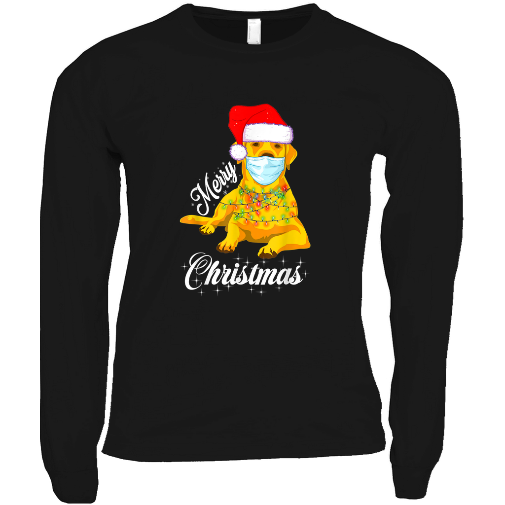 Yellow Lab Merry Christmas - Long Sleeve Shirts