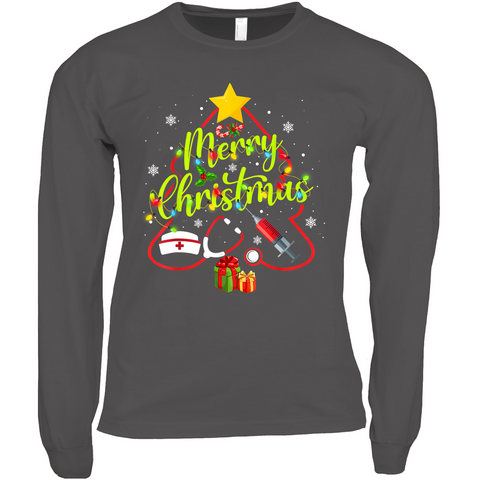 Merry Christmas Nursing - Long Sleeve Shirts