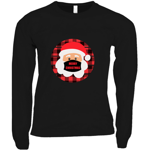 Buffalo Plaid Santa - Long Sleeve Shirts