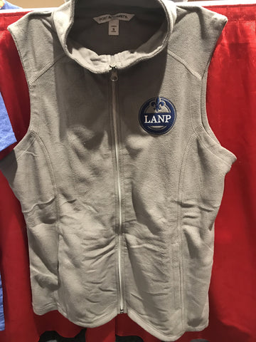 Fleece Zip-up Vest with LANP embroidery