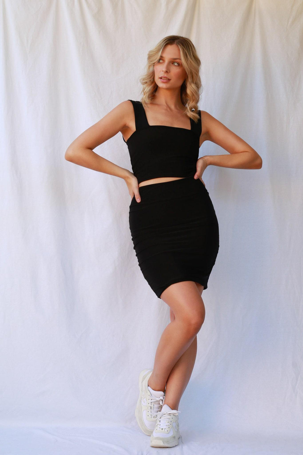 Anna Skirt Black MADE IN AUSTRALIA