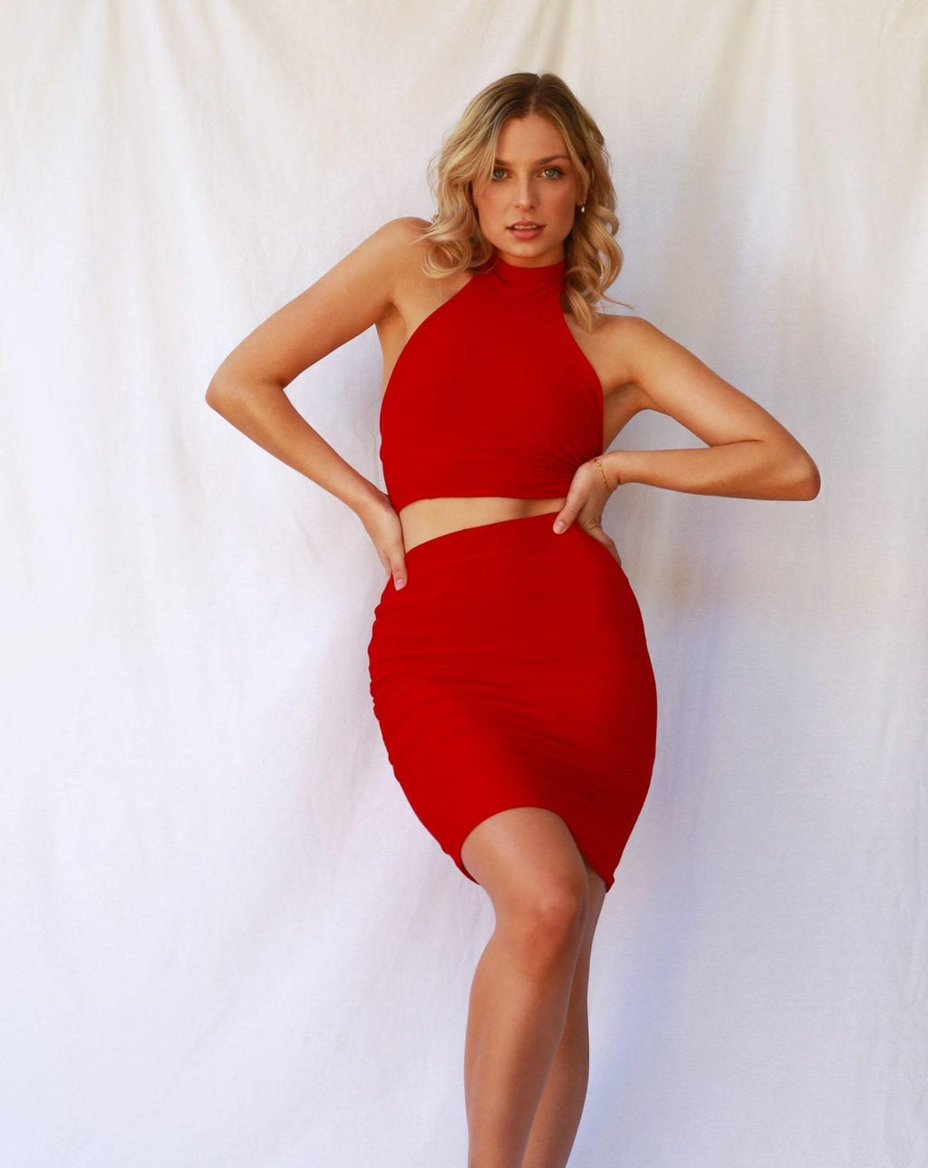 Anna Skirt Ruby Red MADE IN AUSTRALIA