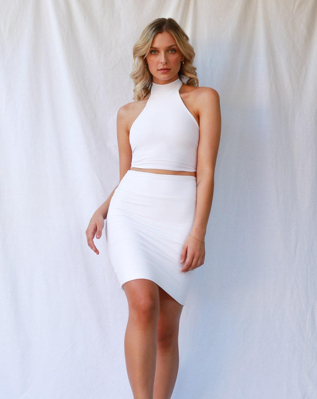 Anna Skirt White MADE IN AUSTRALIA