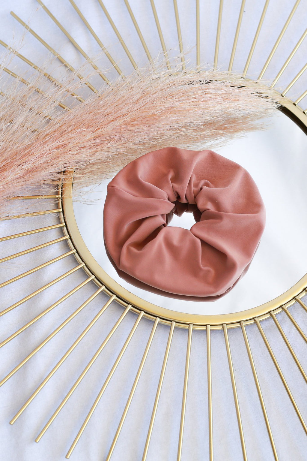 Dusty Pink Jersey Scrunchie freeshipping - Evangeline