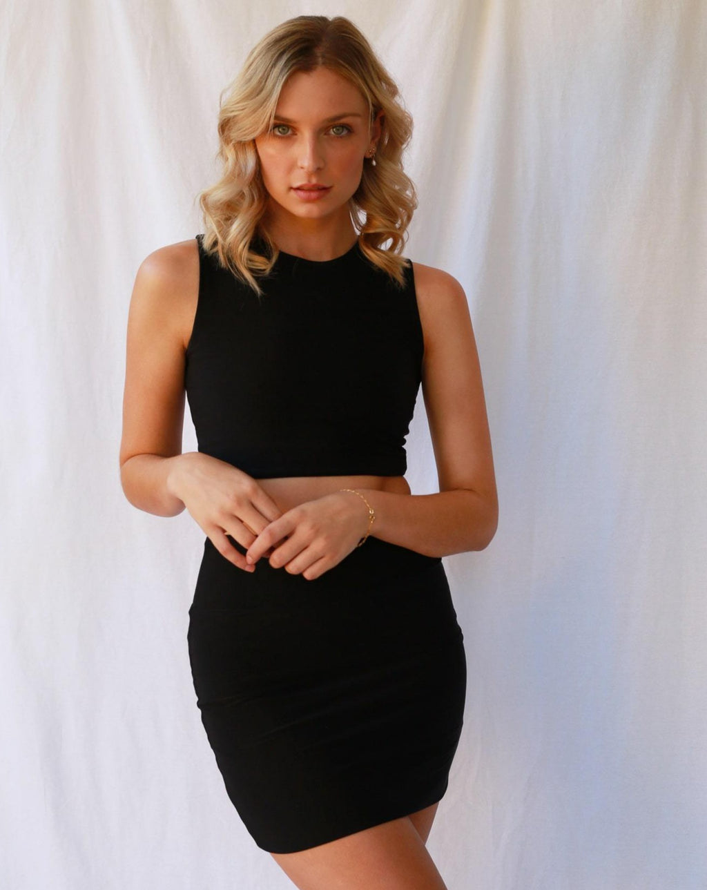 Emma Crop Top Black MADE IN AUSTRALIA