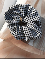 Gingham Check Scrunchie freeshipping - Evangeline