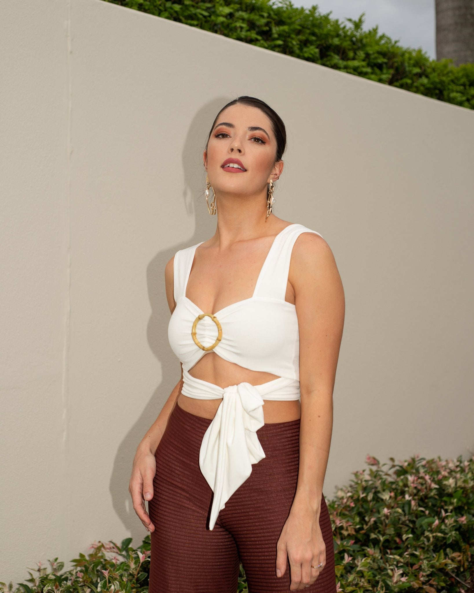 Karla Multi-Way Tie Top in Vanilla MADE IN AUSTRALIA