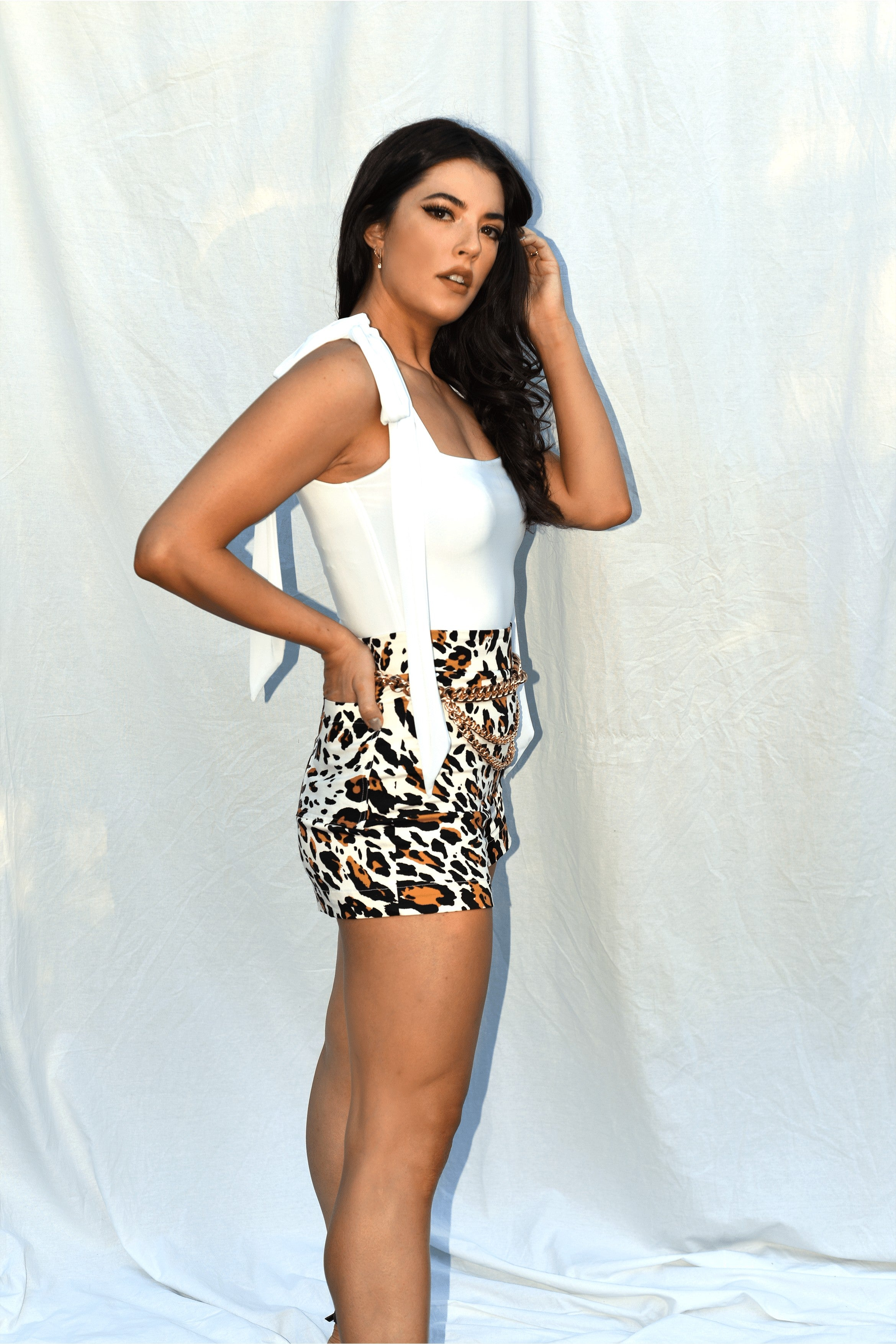 LIMITED EDITION-Aliki Leopard Print Shorts freeshipping - Evangeline