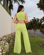 LIMITED EDITION-Ashleigh Cut Out Jumpsuit in Lime freeshipping - Evangeline