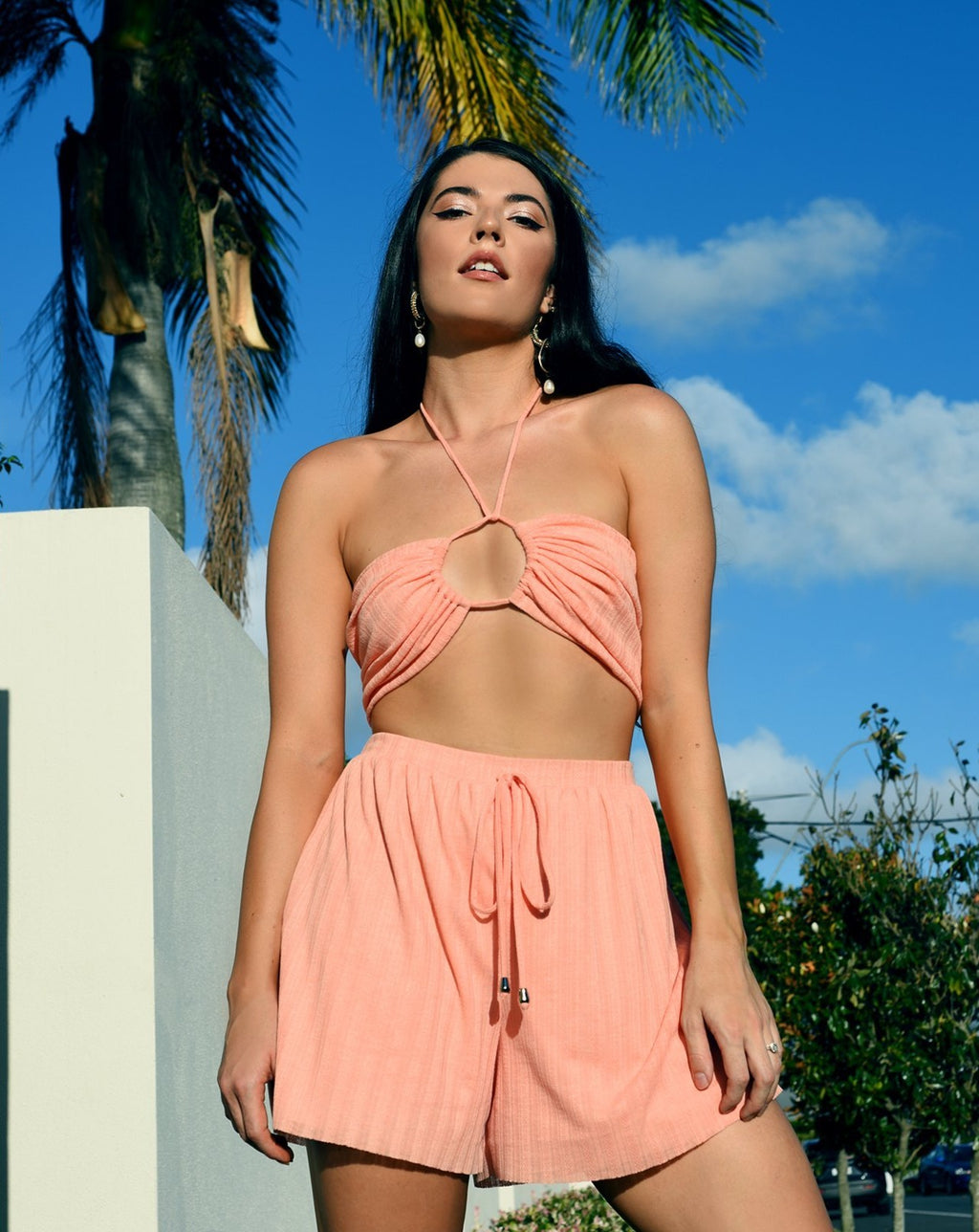 LIMITED EDITION-Mikaela Shorts in Coral freeshipping - Evangeline