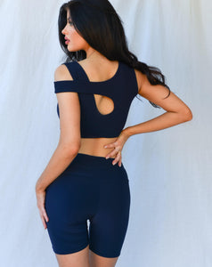 Scarlett Bike Shorts Midnight Blue freeshipping - Evangeline