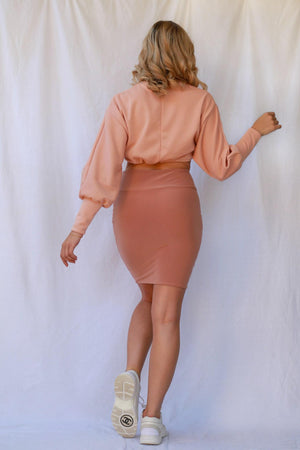 Robbi Cropped Jumper Dusty Pink freeshipping - Evangeline
