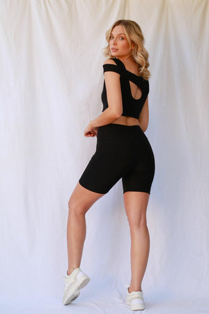 Scarlett Bike Shorts Black freeshipping - Evangeline