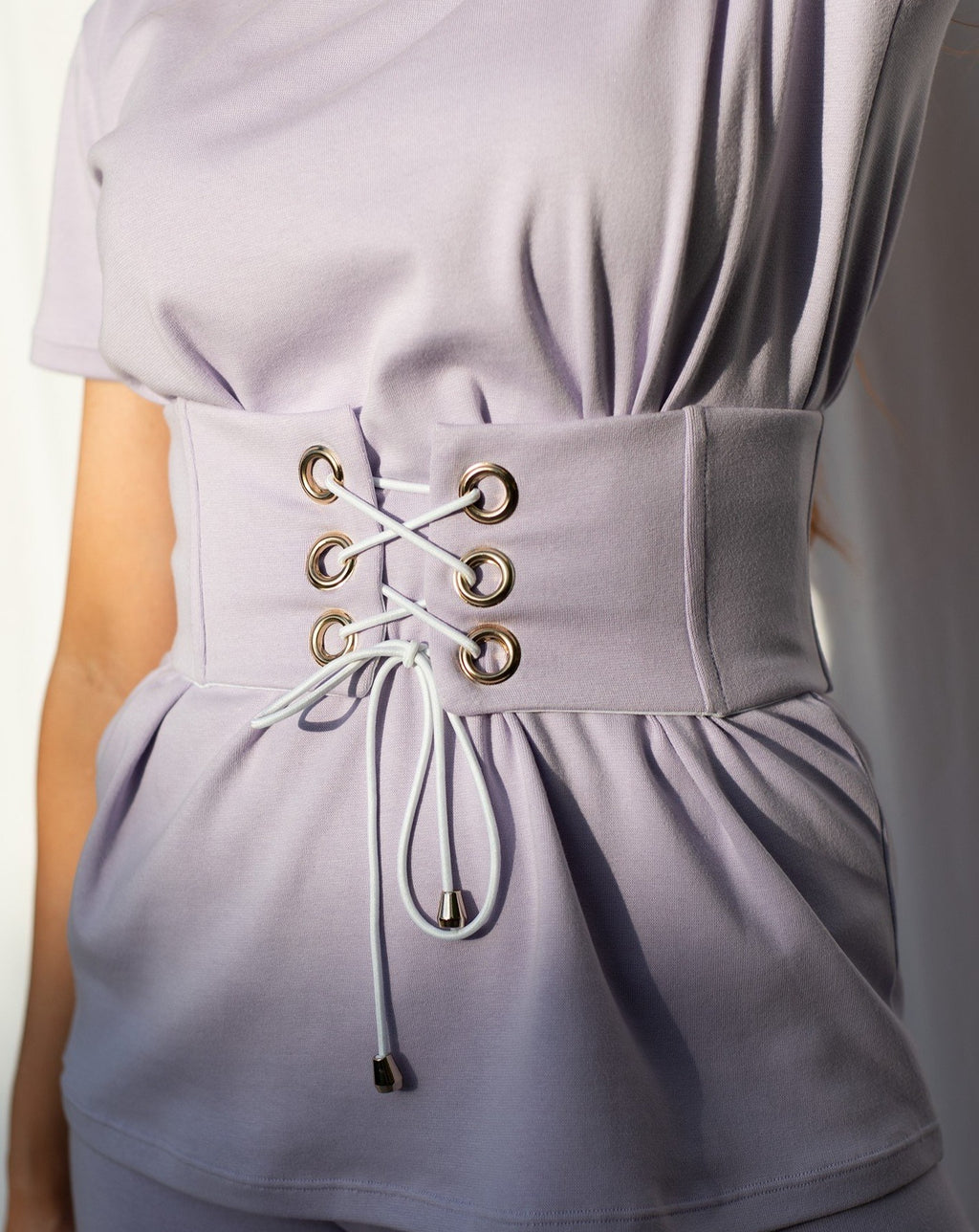 Sophie Corset Belt in Pastel Lilac MADE IN AUSTRALIA