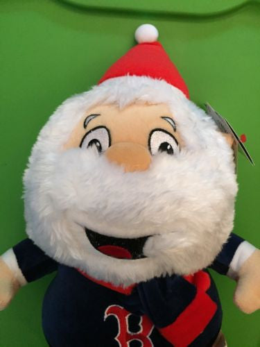 "MLB Boston Red Sox 15"" Plush Christmas Santa Claus"