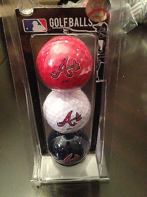 MLB Atlanta Braves Team Logo Golf Ball Set