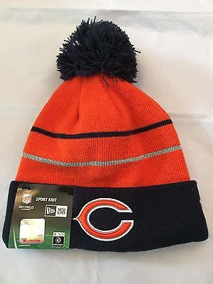 0cb91d37f NFL Chicago Bears Adult New Era Fleece Lined Winter Hat with Pom ...