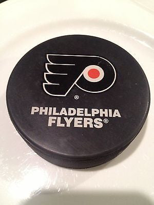 NHL Philadelphia Flyers Official Team Logo Hockey Pucks - Qty. 2