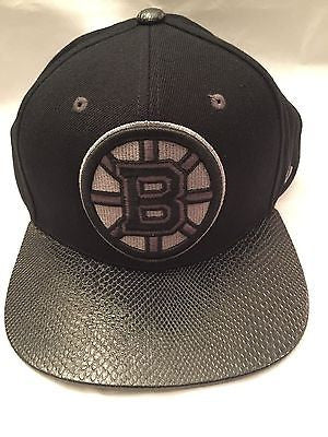 NHL Boston Bruins Zephyr Adjustable Leather Bill Hat