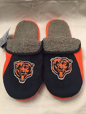 NFL Chicago Bears Adult Large Fleece Lined Slippers by Forever Collectibles